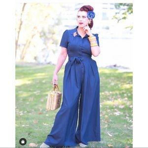 Collectif Modcloth Pinup Vintage Style Jumpsuit